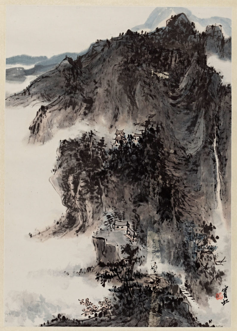 Ink drawing from China