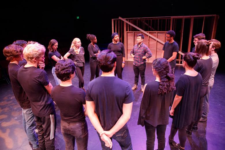 Roble black box theater rehearsal