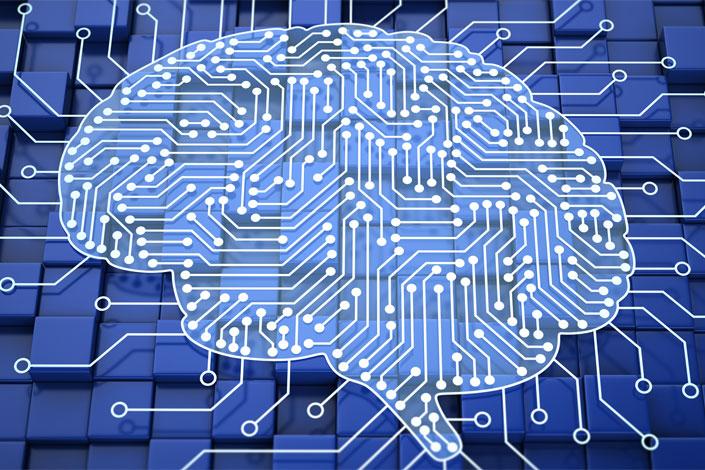 illustration representing circuits in the brain