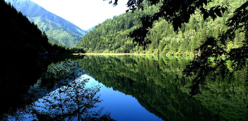 Jiuzhaigou National Park, in Sichuan Province.