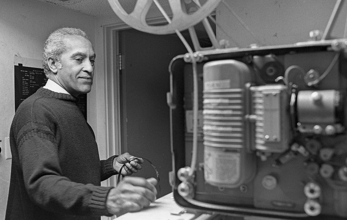 Ronald Alexander with film equipment