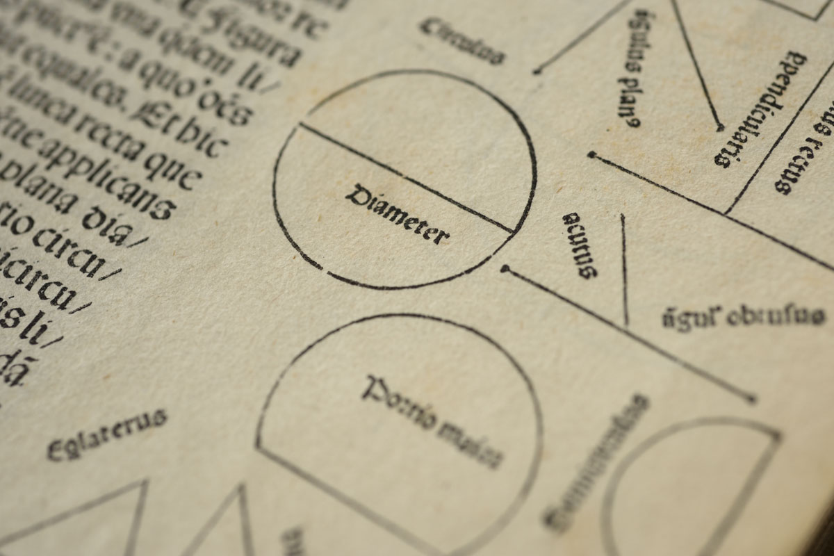 Detail of diagrams from a 1482 edition of Elements held by Stanford University Libraries.