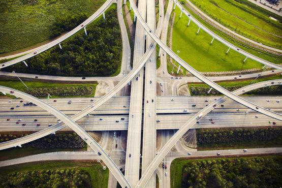 Highways intersecting