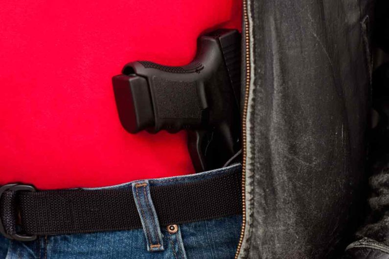 Handgun in waistband