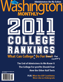 cover of Washington Monthly