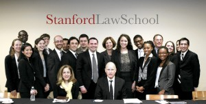 Law students with Brown
