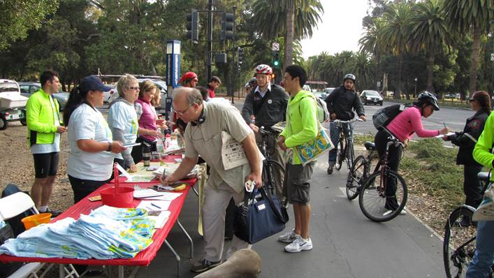 Bike to Work Day at Stanford, May 8, 2014