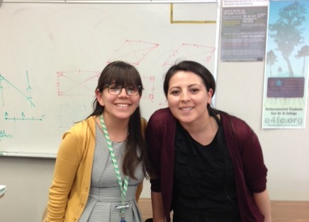 Mayra Chavolla and Vivian Delgado of Latino College Preparatory Academy in San Jose, California