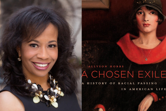 "Photo of Allyson Hobbs and her book cover.  ""A Chosen Exile"""