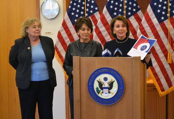 Congresswomen ZoeLofgren,AnnaEshooand NancyPelosi,(Photo Credit: KateChesley)