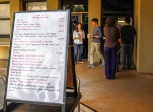 Thai Cafe Stanford Menu