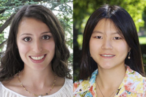 Rebecca Perlman, left, and Shiran Shen