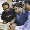 Stanford-India Biodesign fellows Debayan Saha, Shashi Ranjan and Harsh Sheth / Kurt Hickman