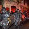 riot police in Rio de Janeiro, Brazil