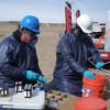 EPA staff monitoring well for fracking contaminants