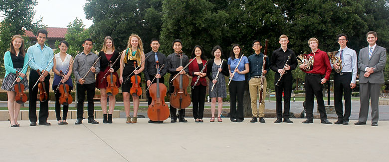 members of the Stanford Conductorless Orchestra