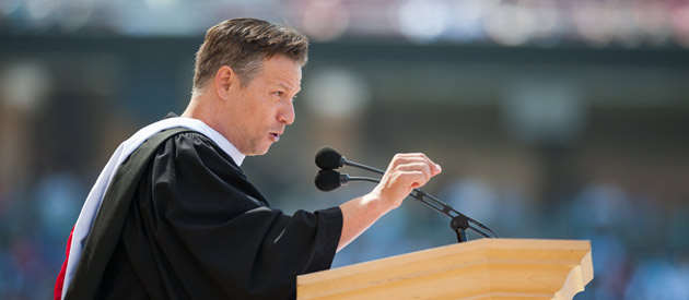 Richard Engel speaking at Commencement