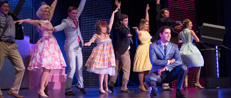 Scene from student production of Hairspray