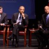 Plenary panelists Anthony Early Jr and Kenneth Chenault and moderator Jeh Johnson / Photo: L.A. Cicero