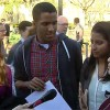 Barack Obama with student / Photo: Stanford Video