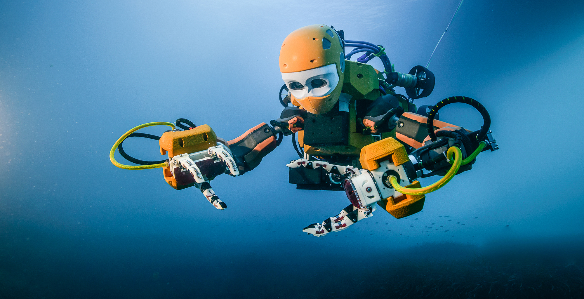 Image of the OceanOne Scuba Android as a featured ocean technology for Oceans Day 18