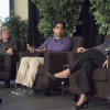 """left to right: Sean Reardon, Salman Khan and Linda Darling-Hammond, panelists at OpenXChange event, """"Combating Inequality in Education"""""""