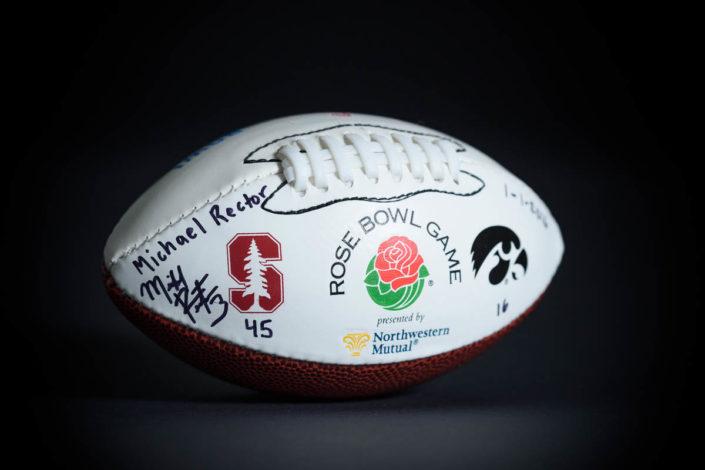 Signed Rose Bowl mini football
