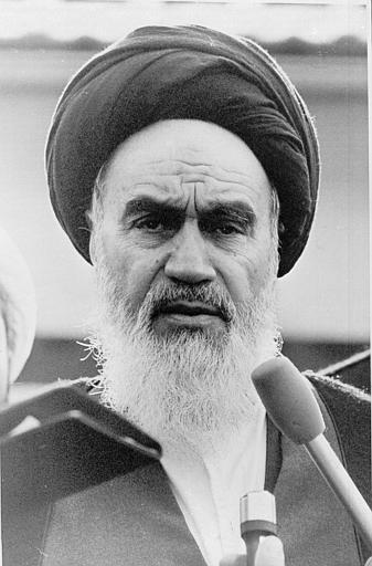 portrait of Ayatollah Ruhollah Khomeini, 1979