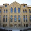 front facade of newly restored and renovated Old Chem building