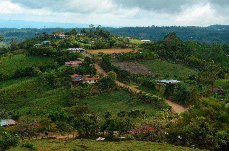 Costa Rican farming area