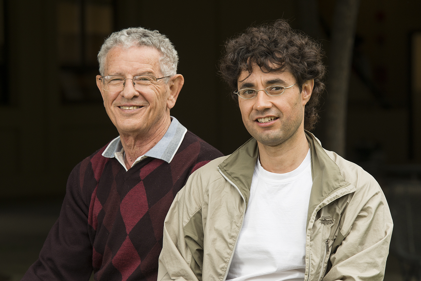 Graduate student Cuauhtémoc García-García (right) adapted statistical modeling technologies created by biology Professor Marcus Feldman to trace language rather than biological evolution.
