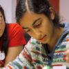 Girl learning code