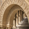 sandstone arches and columns