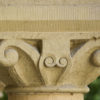 Architectural details of the sandstone arcades in the Main Quadrangle of Stanford University