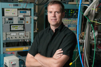 Nicholas Melosh in the lab