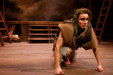 In a production of Shakespeare's The Tempest, Hamzeh Daoud appears as Caliban.