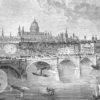 engraving of London bridge from 1972