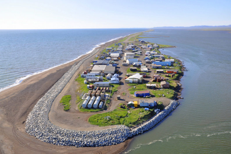 Kivalina, Alaska, is an example of a village threatened by sea level rise and extreme weather.