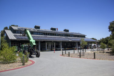 solar panels are installed at the Automotive Innovation Facility on Oak Road