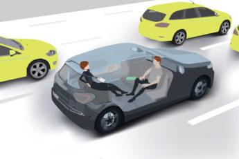 Drawing of self-driving car