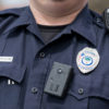 Policeman with body-worn videocamera (body-cam)