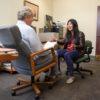 Natty Jumreornvong meets with her adviser, Professor Don Barr