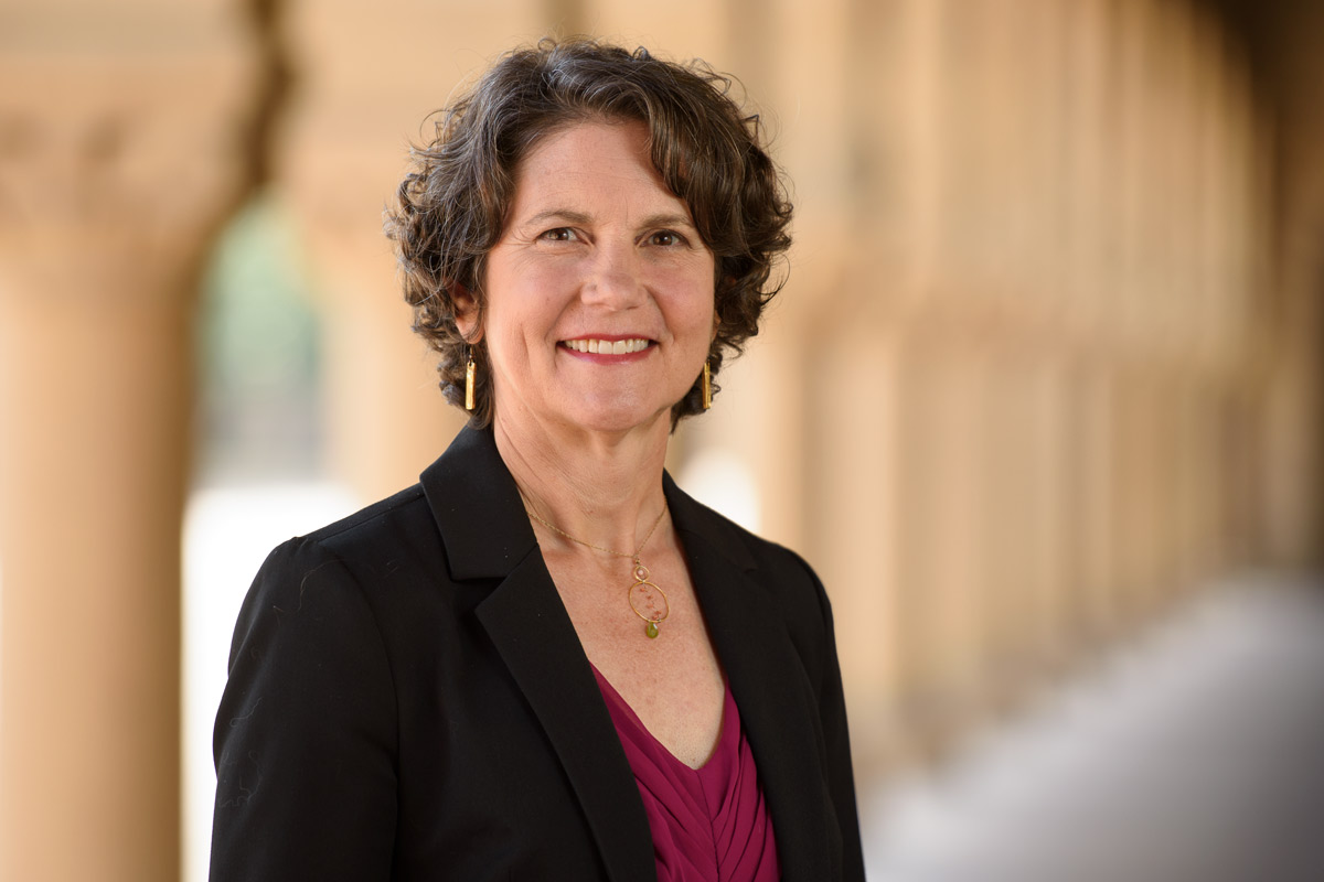 portrait of Catherine Palter, Stanford associate vice president for land use and environmental planning in the office of Land, Buildings and Real Estate