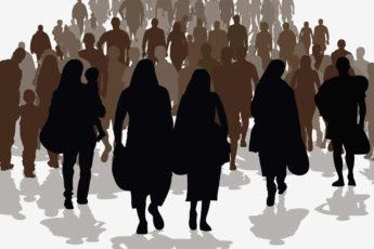 Illustration of asylum seekers