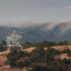 The Dish and foothills in June.
