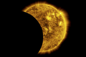 NASA image of an eclipse captured from space.