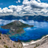 Researchers detail a new method for locating lithium in lake deposits from ancient supervolcanoes, which appear as large holes in the ground that often fill with water to form a lake, such as Crater Lake in Oregon, pictured here.