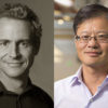 composite photo of Felix Baker and Jerry Yang, new Stanford trustees