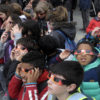 Children watching eclipse