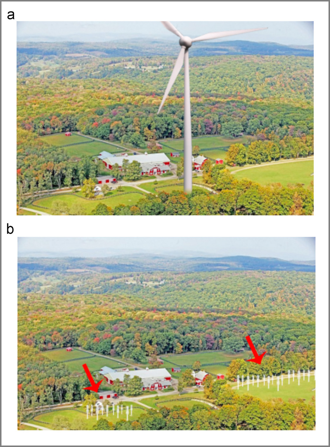 traditional versus horizontal axis wind turbines in rural setting